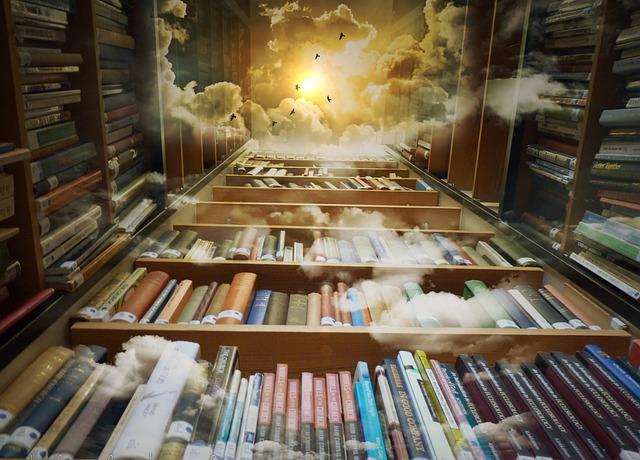 空が見える図書館