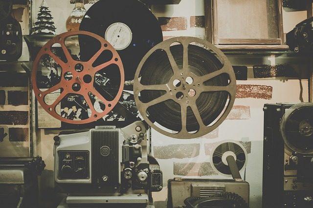 古い映画の機械